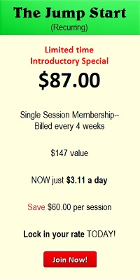 Prices- The Jump Start. 200 x 400. 87.00 Intro Special. lock in your rate today.